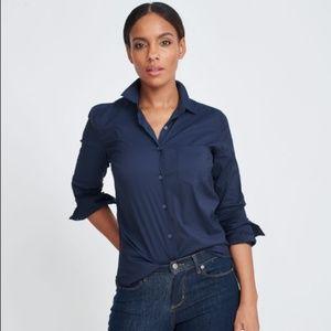 UNTUCKit Annabella Navy Stretch Button Down Shirt